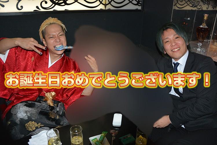 ウエケンTシャツで粋なお祝い!Club GLOW 上田 賢 主任バースデーイベント!6